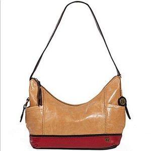 The Sak Leather Kendra Hobo Shoulder Bag Camel Red